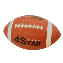 Defender Brown 4 Star Hand-crafted Synthetic-rubber Rugby Ball