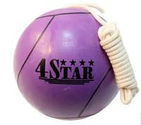Size-seven Defender Purple Tether Ball with 11-foot Nylon Rope