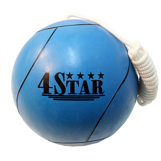 Defender 4Star Blue Tether Ball and Regulation Nylon Rope (Size Seven)