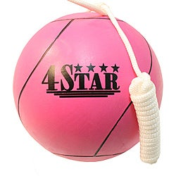 Defender Pink 4 Star Professional Nylon/Rubber Tether Ball (Size 7)