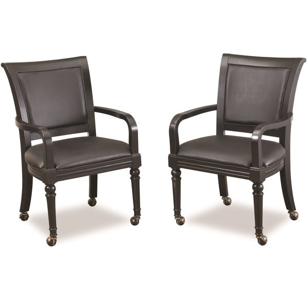 St Croix Black Game Chair (Set of 2) by Home Styles