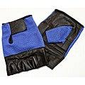 Defender Blue Medium Leather Fingerless Gloves