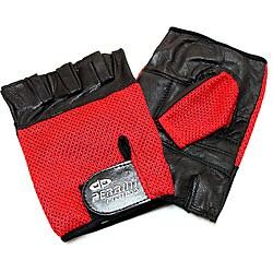 Defender Red Medium Leather Fingerless Gloves