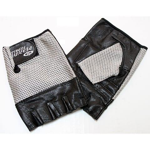 Defender Silver XX-Large Leather Fingerless Gloves