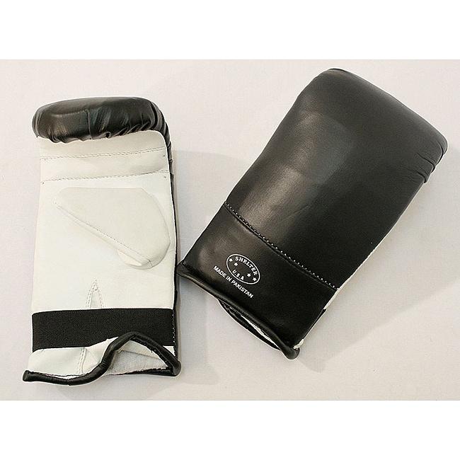 Defender Black/ White Large MMA Style Punching Gloves