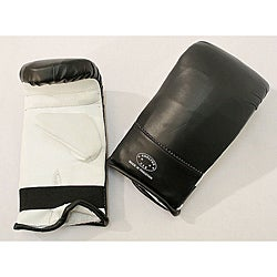 Defender Black/ White Large MMA Style Punching Gloves