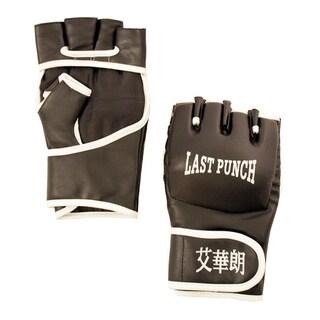 Defender Black Leather Wristwrap XL Heavy Bag Boxing Training Gloves