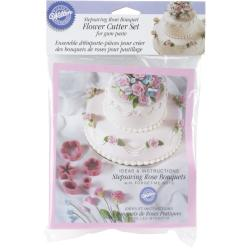Flower Cutter Set 6/Pkg-Rose Bouquet