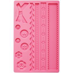 Fondant And Gum Paste Silicone Mold-Fabric