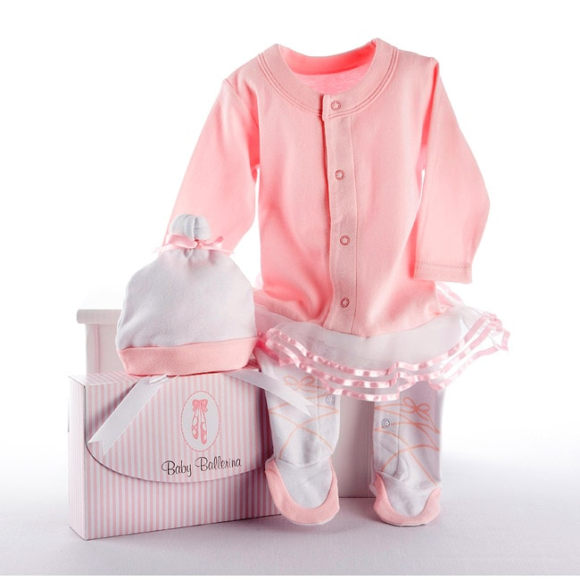 Baby Aspen Big Dreamzzz 2-piece Layette Set in Baby Ballerina - Thumbnail 0