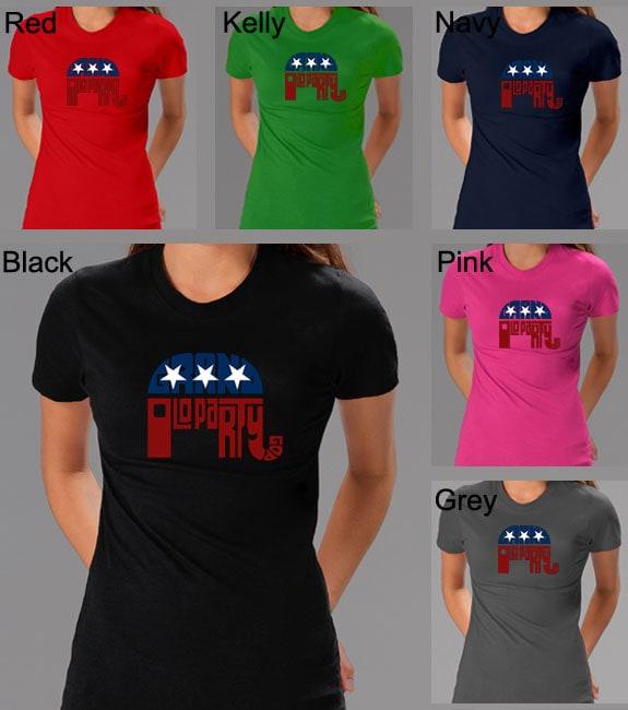 Los Angeles Pop Art Women's GOP Short Sleeve T-Shirt
