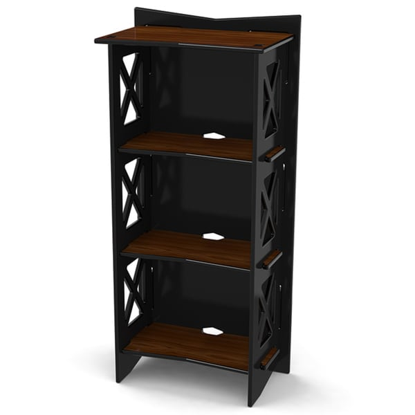 Legare 48 inches x 22 inches Bookcase, Ebony and Walnut