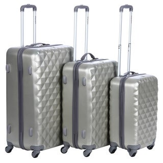 Olympia Yellowstone Rice Gold 3-piece Hardside Spinner Luggage Set