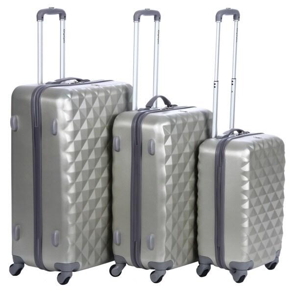 Olympia Yellowstone Rice Gold 3-piece Hardside Spinner Luggage Set