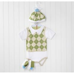 Baby Aspen Sweet Tee 3-piece Golf Layette Set - Thumbnail 2