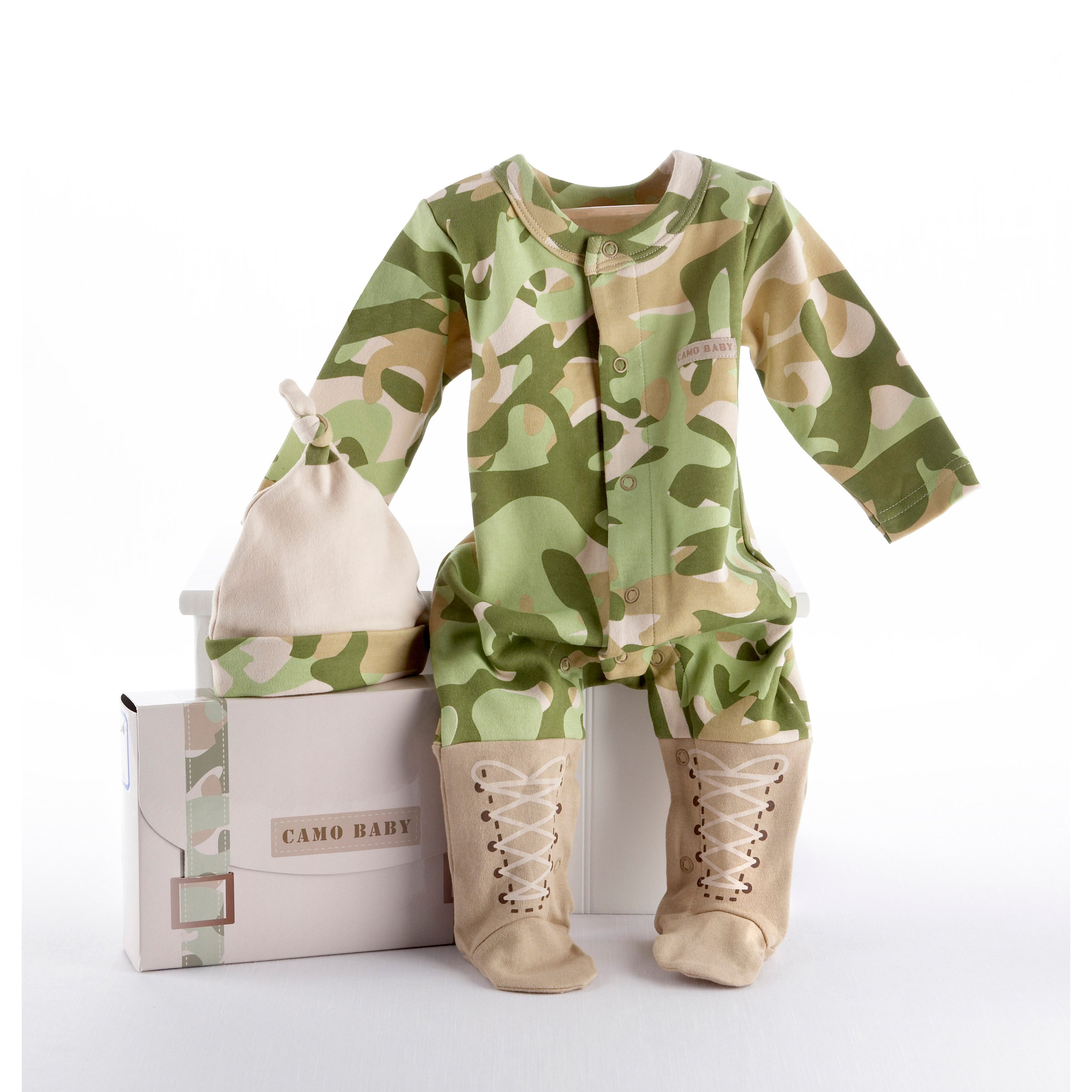 Baby Aspen Big Dreamzzz Baby Camo 2-piece Layette Set - Thumbnail 0