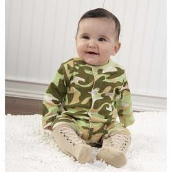 Baby Aspen Big Dreamzzz Baby Camo 2-piece Layette Set - Thumbnail 1