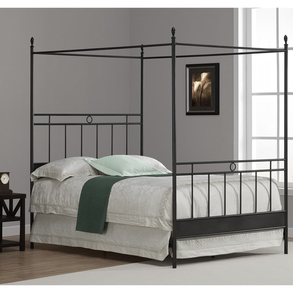 How To Use A Four Poster Bed Canopy To Good Effect: Shop Carbon Loft Cara Full Metal Canopy Bed