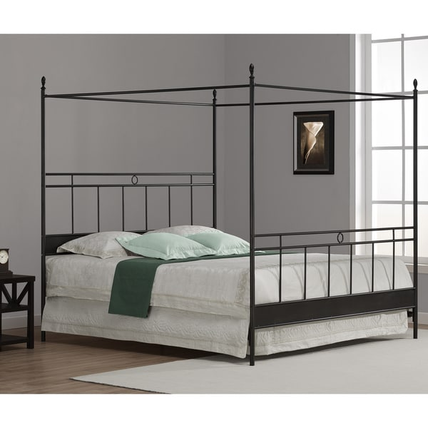 Cara King Metal Canopy Bed