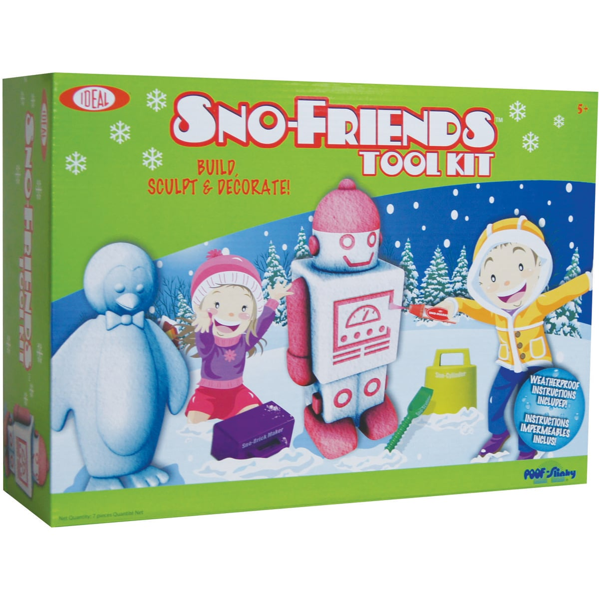 Poof-Slinky Sno-Friends Plastic Tool Kit with Sno-Shaver and Molds