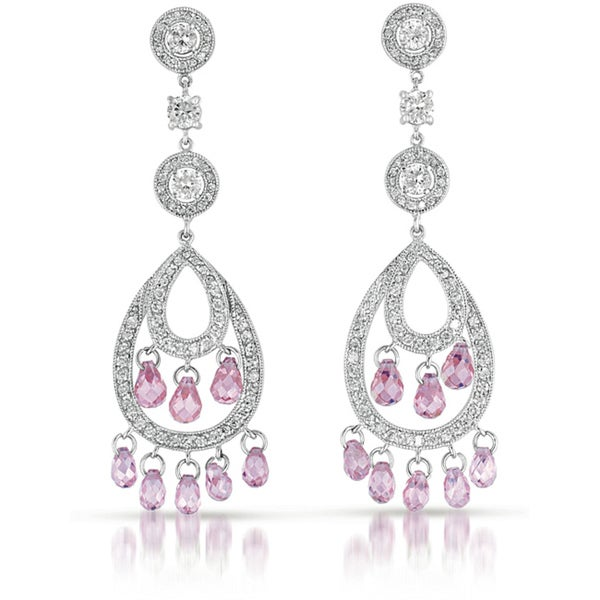 Collette z cubic zirconia and sterling silver pink chandelier collette z cubic zirconia and sterling silver pink chandelier earrings aloadofball Gallery