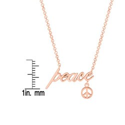 Expression Peace with Peace Sign Necklace