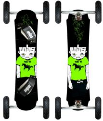 MBS Colt 90 Freestyle Mountainboard with Eight-inch Knobby Tires - Thumbnail 2