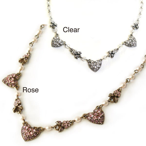 Sweet Romance Queen of Hearts Crystal Necklace