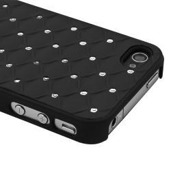 Black Diamond Gem Rear Snap-on Case for Apple iPhone 4/ 4S - Thumbnail 2