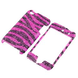 Pink/ Black Zebra Snap-on Case for Apple iPod Touch Generation 4