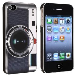 Black Camera Pattern Snap-on Case for Apple iPhone 4/ 4S