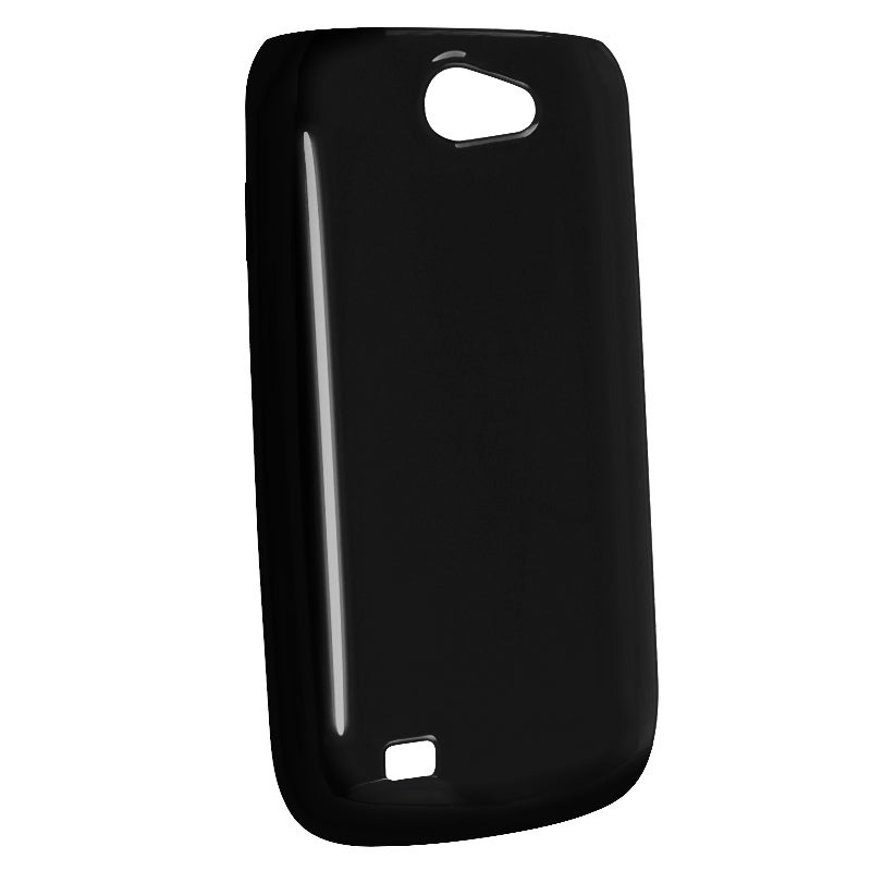 Clear Black TPU Rubber Skin Case for Samsung Exhibit 2 4G T679