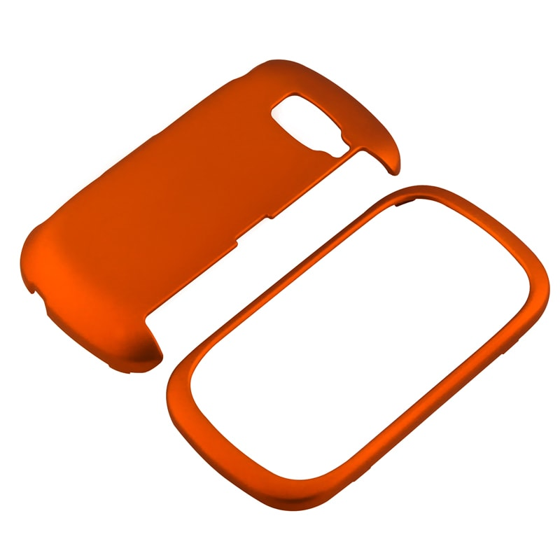Orange Snap-on Rubber Coated Case for LG VN530 Octane