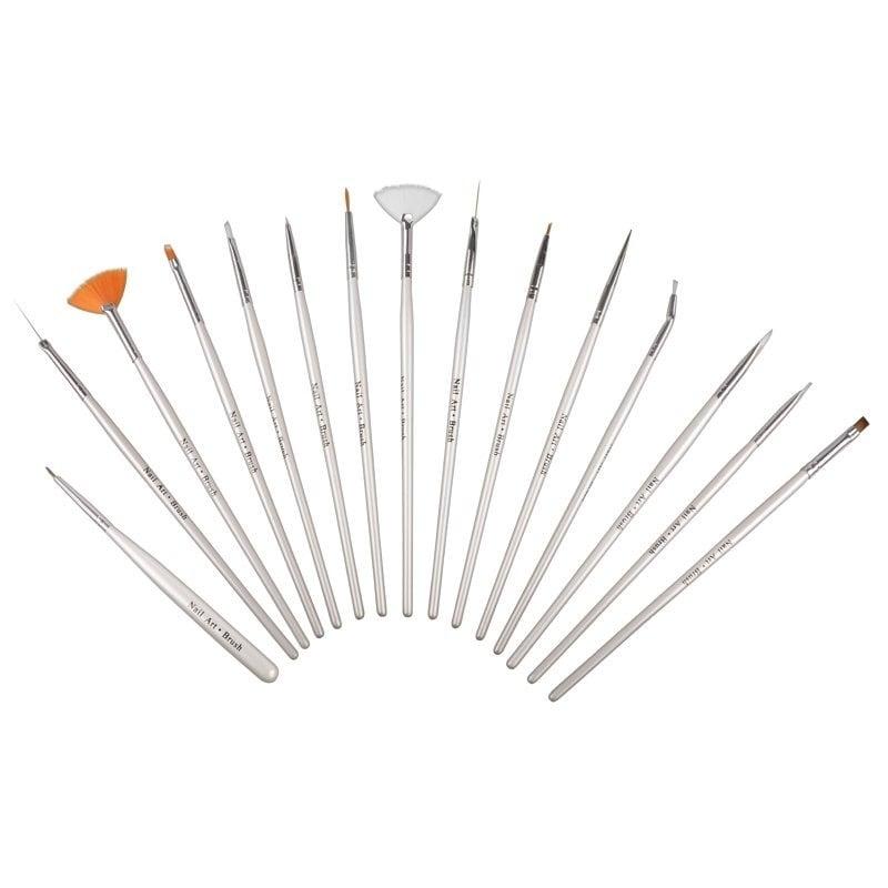Zodaca Nail Art Design Brush (Set of 15) (Brush Set)