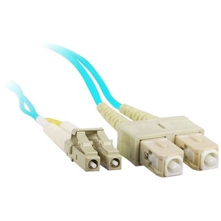 SIIG 1M 10Gb Aqua Multimode 50/125 Duplex Fiber Patch Cable LC/SC