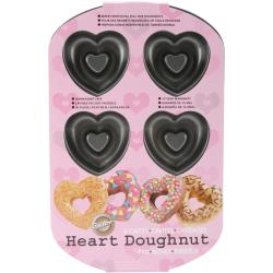 Heart Donut Pan 6 Cavity