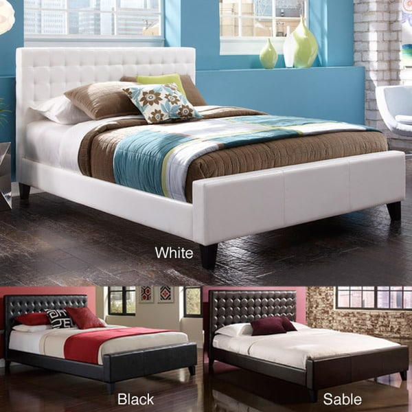 Andura Faux Leather Tufted Full-size Platform Bed