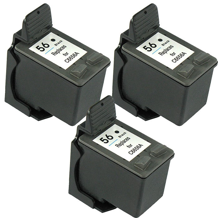 Hewlett Packard HP 56 Black Ink Cartridge (Pack of 3) (Remanufactured) - Thumbnail 0