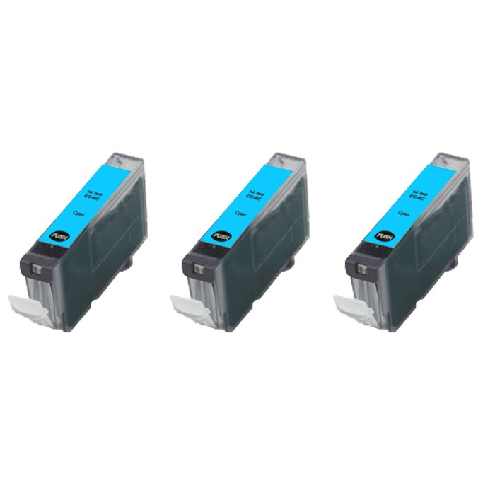 Canon CLI8C Compatible Cyan Ink Cartridge (Pack of 3)