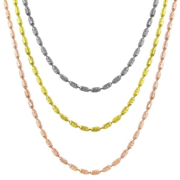 Fremada Sterling Silver  1.5-mm Diamond-cut Bead Chain