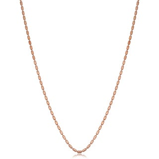 Fremada Sterling Silver 1.5-mm Diamond-cut Bead Chain