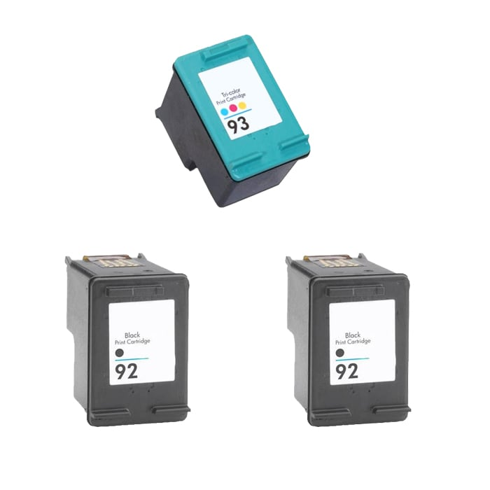 Hewlett Packard 92/93 Black/Color Ink Cartridge (Pack of 3) (Remanufactured)