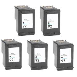 Hewlett Packard 92 Black Ink Cartridge (Pack of 5) (Remanufactured)