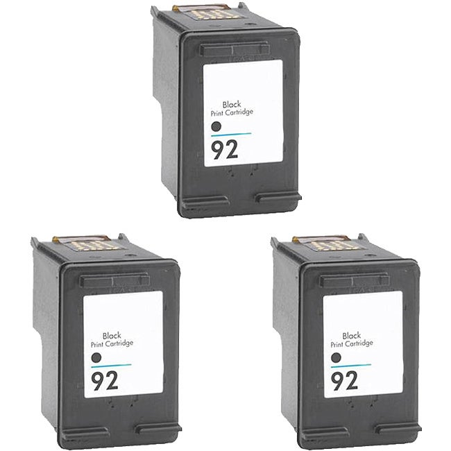 Hewlett Packard 92 Black Ink Cartridge (Pack of 3) (Remanufactured) - Thumbnail 0