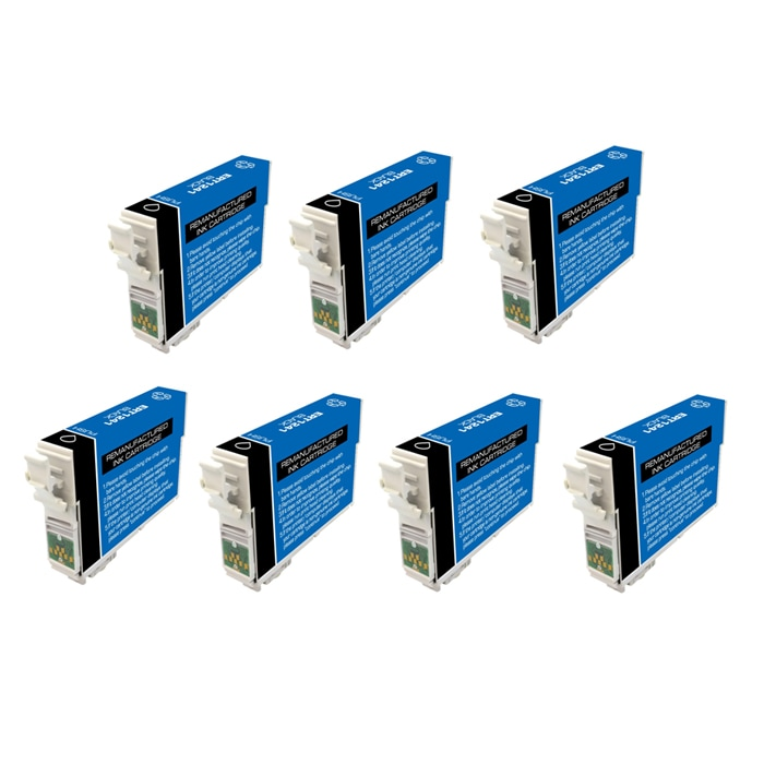 Epson T125100 T125 Black Ink Cartridges (Pack of 7) (Remanufactured)