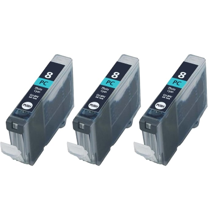 Canon CLI8-PC Compatible Photo Cyan Ink Cartridge (Pack of 3)