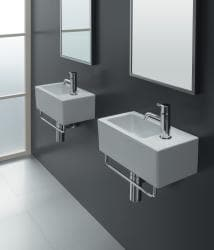 Bissonnet 'ICE-20' White Ceramic Bathroom Sink - Thumbnail 1