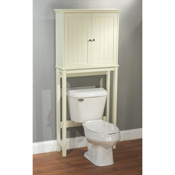 simple living antique white bathroom cabinet space saver free