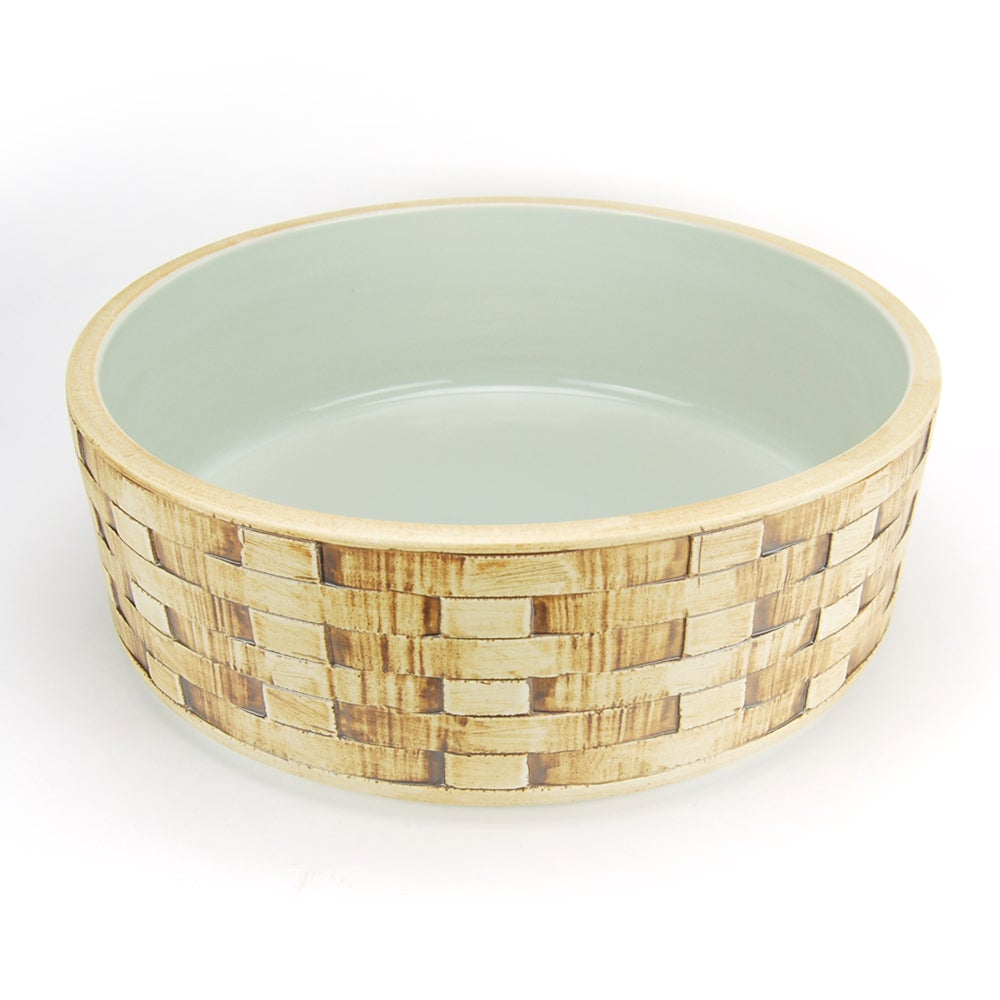 Fontaine Basket Weave Porcelain Vessel Sink - Thumbnail 0
