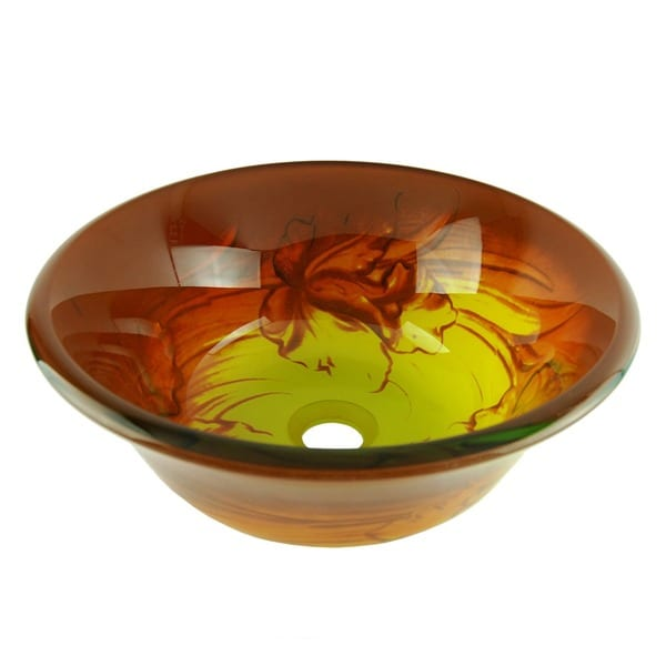 Fontaine Daffodil Glass Vessel Sink